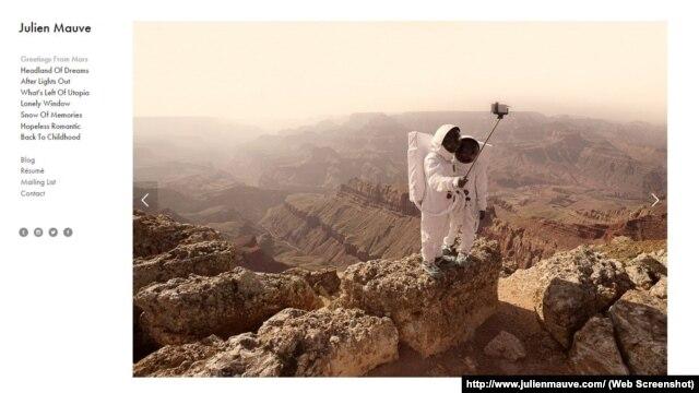 ژولین موو عکاس و طراح، به تازگی دست به طراحی پروژهای زده است با نام «خوشآمدگویی از مریخ»