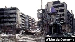 Pamje nga lufta në Sarajevë, 1996.