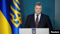 """To delay further would be flagrantly unfair as Ukraine has paid a high price,"" Ukrainian President Petro Poroshenko said."