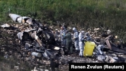 Обломки разбившегося истребителя ВВС Израиля. 10 февраля 2018 года.