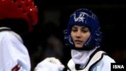 سارا خوش جمال فکری در مسابقات دوحه در سال ۲۰۰۶ (عکس: ایسنا)