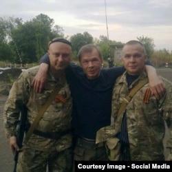 Російський актор Олександр Баширов (в центрі) на Донбасі