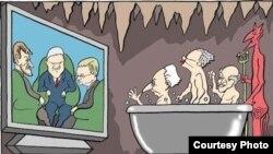 Karikatura Predraga Koraksića Koraksa za danas.rs o sastanku u Brionima