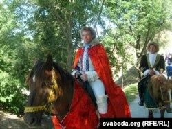 Рыцарскі фэст у Мсьціславе. На кані — «кароль Ягайла»