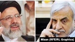 مصطفی هاشمیطبا (راست) و ابراهیم رئیسی. از نامزدهای انتخابات پیش رو