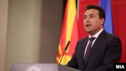 Архива - Премиерот Зоран Заев на прес-конференција во Владата.