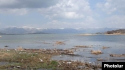 Armenia -- A Lake Sevan shore submerged by rising waters.
