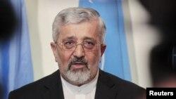 Представник Ірану в МАГАТЕ Алі Асгар Солтаніє на прес-конференції після переговорів 24 серпня 2012 року