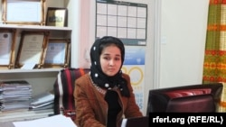 Khomari Haidari is in charge of women affairs at the Independent Human Rights Commission's regional office in northern Afghanistan, 12 February.