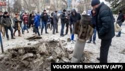 Последствия обстрела Краматорска, 10 февраля 2015 года