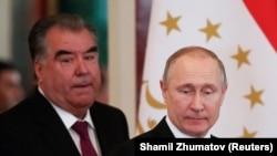 Эмомали Рахмон и Владимир Путин