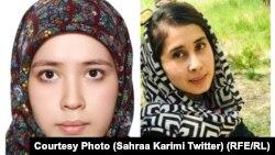 فاطمه محمدی و طیبه موسوی دو تن از کارمندان افغان فیلم که در انفجارهای روز دوشنبه در غرب شهر کابل کشته شدند.