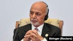 Afghan President Ashraf Ghani was giving an address to mark Eid al-Adha.