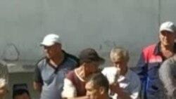 Акция протеста сурхандарьинских шахтеров