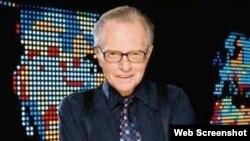 Америкалик тележурналист Ларри Кинг.