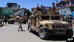 Илустрација - Припадници на авганистанските безбедни сили во Кабул