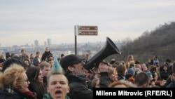 У столиці Чехії у лютому пройшла низка демонстрацій за і проти політики ЄС щодо мігрантів (фото від 6 лютого)