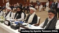 شماری از اعضای هیئت مذاکره کننده گروه طالبان در دوحه