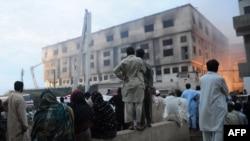 Өрт каптаган фабрика. 12-сентябрь, 2012-жыл.