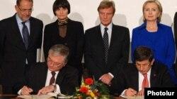 Церемония подписания армяно-турецких протоколов, Цюрих, Швейцария, 10 октября 2009 г.