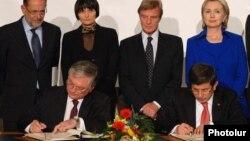 Շվեյցարիա - Հայ-թուրքական արձանագրությունների ստորագրման արարողությունը, Ցյուրիխ, 10-ը հոկտեմբերի, 2009թ․