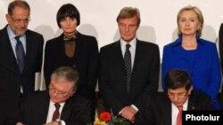 Подписание армяно-турецких протоколов, Цюрих, 10 октября 2009 г.