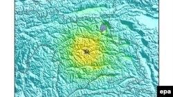 ABŞ Geoloji Müşahidə Agentliyinin xəritəsi