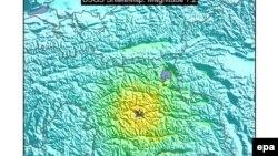 По данным специалистов, сила полдземных толчков во время вчерашнего землетрясения в Таджикистане составила 7,2 балла.
