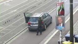 Відео нападу в Німеччині: стрілець у бойовому спорядженні стріляє по людях