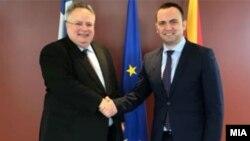 Средба во Атина на грчкиот министер за надворешни работи Коѕиас и вицепремиерот Османи.