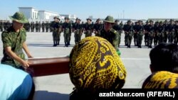 Церемония военной присяги в Туркменистане (архивное фото)