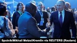 Владимир Путин на приеме в честь африканских лидеров
