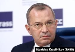 Андрій Клюєв на пресконференції в Москві, 26 квітня 2018 року