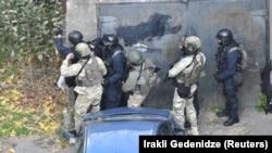 Վրաստանի անվտանգության ուժերը՝ հակաահաբեկչոկան գործողության ժամանակ, 22-ը նոյեմբերի, 2017թ․