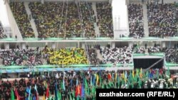 Celebration of Turkmenistan's flag day in the Olympic Stadium in 2011