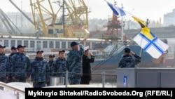 Підняття бойового прапору на катері P191 «Старобільськ» в Одесі