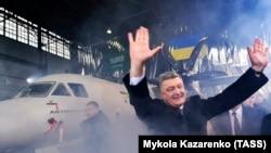 Петро Порошенко на презентації нового літака Ан-132. Київ, 20 грудня 2016 року