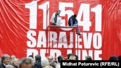 Në Sarajevë përkujtohen 11541 të vrarët gjatë rrethimit që filloi para 20 vitesh