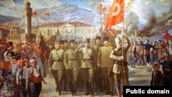 نقاشی از ورود قوای ملی به ازمیر بعد از پیروزی در جنگ استقلال