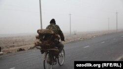 На дороге в Ферганской области.