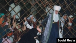 """""""Алай ханышасы"""" спектаклинде Курманжан датканын образында. Режиссеру Бообек Ибраев."""