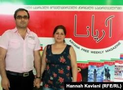 سارا قاضی و مصطفی صدیقی از مجله فارسی زبان آریانا