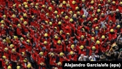 Vatrogasci na protestu u Barseloni 3. oktobra