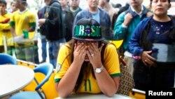 Navijači Brazila nakon istorijskog poraza od Njemačke