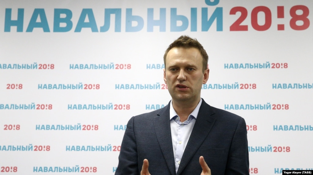 Russian opposition activist and presidential hopeful Aleksei Navalny