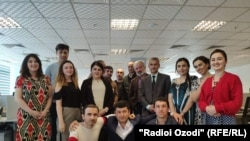 Dushanbe-based staff of RFE/RL's Tajik Service, Radio Ozodi (October 23, 2019)