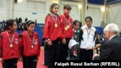 فائزات بطولة كأس العرب الثالثة عشر في تنس الطاولة (من الارشيف)