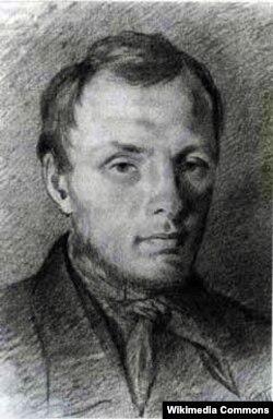 Dostoyevski, 1847, Trutovskinin qələmlə çəkdiyi rəsm