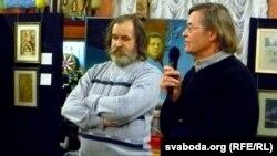 Мастакі Барыс Лалыка і Уладзімер Вальноў (справа)