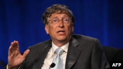U.S. -- Co-founder and co-chairman of the Bill and Melinda Gates Foundation and chairman and former chief executive of Microsoft Bill Gates speaks during a panel discussion of the 19th International AIDS Conference, Washington, 23Jul2012